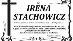 Zmarła Irena Stachowicz. Żyła 85 lat.