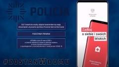 Policjanci apelują – jesteś objęty kwarantanną, skorzystaj z bezpłatnej aplikacji. Film instruktażowy.