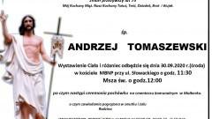 Zmarł Andrzej Tomaszewski. Żył 75 lat.