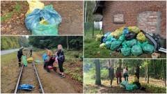 W ciągu kilku godzin nazbierano ponad 50 worków śmieci w lasach gminy Stegna.