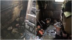 Kałdowo. Pożar piwnicy w budynku jednorodzinnym.