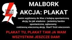 Malborski Strajk Kobiet ogłosił #AKCJAPLAKAT.