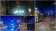 Pożar piwnicy w Pogorzałej Wsi – weekendowy raport malborskich służb mundurowych.