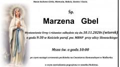 Zmarła Marzena Gbel. Żyła 56 lat.