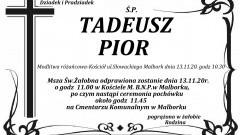 Zmarł Tadeusz Pior. Żył 89 lat.
