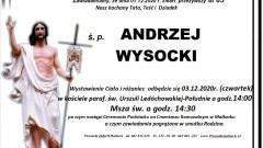 Zmarł Andrzej Wysocki. Żył 63 lata.