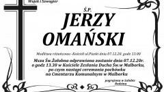 Zmarł Jerzy Omański. Żył 66 lat.