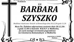 Zmarła Barbara Szyszko. Żyła 95 lat.