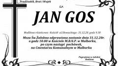Zmarł Jan Gos. Żył 83 lata.