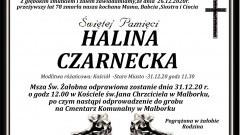 Zmarła Halina Czarnecka. Żyła 78 lat.
