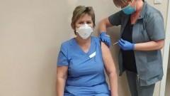 Malbork. Pierwsza osoba zaszczepiona przeciw COVID-19.