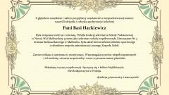Dyrekcja, pracownicy i nauczyciele Zespołu Szkolno – Przedszkolnego nr 1 w Malborku składają kondolencje.