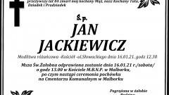 Zmarł Jan Jackiewicz. Żył 84 lata.