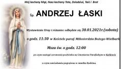 Zmarł Andrzej Łaski. Żył 75 lat.
