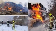 Ponad 10 godzin trwało gaszenie pożaru sterty słomy – weekendowy raport malborskich służb mundurowych.