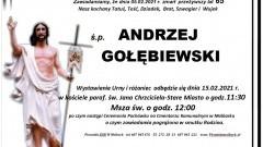 Zmarł Andrzej Gołębiewski. Żył 65 lat.