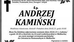 Zmarł Andrzej Kamiński. Żył 66 lat.