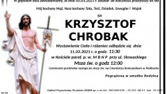 Zmarł Krzysztof Chrobak. Żył 66 lat.