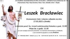 Zmarł Leszek Bracławiec. Żył 71 lat.