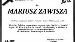 Zmarł Mariusz Zawisza. Żył 59 lat.