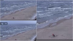 Kąty Rybackie. Zaręczyny na plaży przy wschodzie słońca.