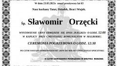 Zmarł Sławomir Orzęcki. Żył 63 lata.
