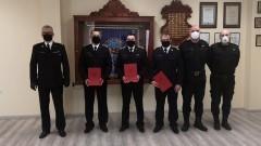 Malbork. Uroczystość mianowania na wyższe stanowiska służbowe w Komendzie Powiatowej Państwowej Straży Pożarnej.
