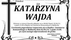 Zmarła Katarzyna Wajda. Żyła 95 lat.
