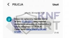 Masz nieopłacony mandat - policja ostrzega przed kolejnym oszustwem.