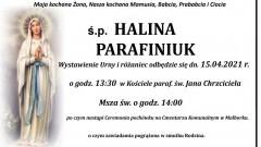 Zmarła Halina Parafiniuk. Żyła 71 lat.
