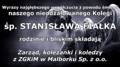 Kondolencje Zarządu i pracowników ZGKiM w Malborku.