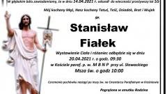 Zmarł Stanisław Fiałek. Żył 55 lat.