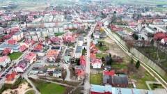 Nowy Dwór Gdański z lotu ptaka - kwiecień 2021