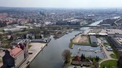 Port Morski w Elblągu z drona - Przekop Mierzei Wiślanej