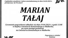 Zmarł Marian Tałaj. Żył 96 lat.