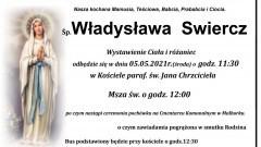 Zmarła Władysława Swiercz. Żyła 89 lat.