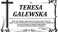 Zmarła Teresa Galewska. Żyła 86 lat.