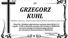 Zmarł Grzegorz Kuhl.