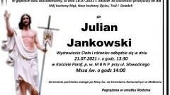 Zmarł Julian Jankowski. Żył 88 lat.