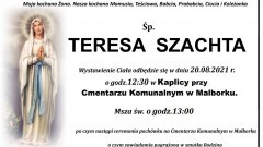 Zmarła Teresa Szachta. Żyła 71 lat.