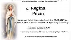Zmarła Regina Puzio. Żyła 91 lat.