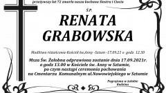 Zmarła Renata Grabowska. Żyła 72 lata.