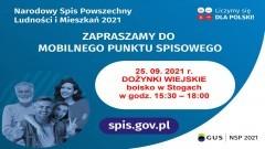 Gmina Malbork zaprasza do skorzystania z Mobilnego Punktu Spisowego w Stogach.