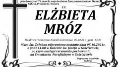 Zmarła Elżbieta Mróz. Żyła 73 lata.