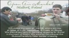 Malbork z 1991 roku na filmie amerykańskich turystów. Zobacz dwa nagrania wideo z 24 marca 1991 roku