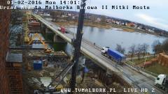 Uwaga! Przez dwie noce wprowadzają ruch wahadłowy na dojeździe do mostu od strony Tczewa - 01.02.2015