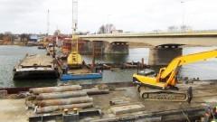 Zobacz postęp prac przy budowie II nitki mostu na rzece Nogat w Malborku - 03.02.2016