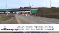 Zmiany w ruchu na wyjeździe na siódemkę Malbork – Nowy Dwór Gdański – 01.04.2016