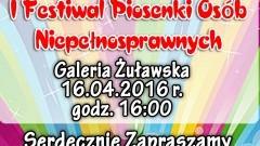 Nowy Staw: I Festiwal Piosenki Osób Niepełnosprawnych z gwiazdą Krystyną Giżowską – 16.04.2016