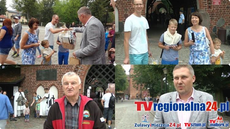 Beata Błaszczak z Płocka 519 000 gościem malborskiego zamku (10.09.2016). Pobity został rekord z 2015 roku.